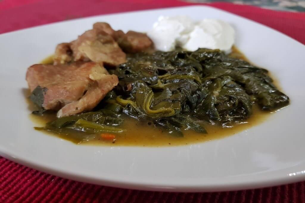 Jagnjetinja sa spanaćem i pavlakom - kapama - Ručak