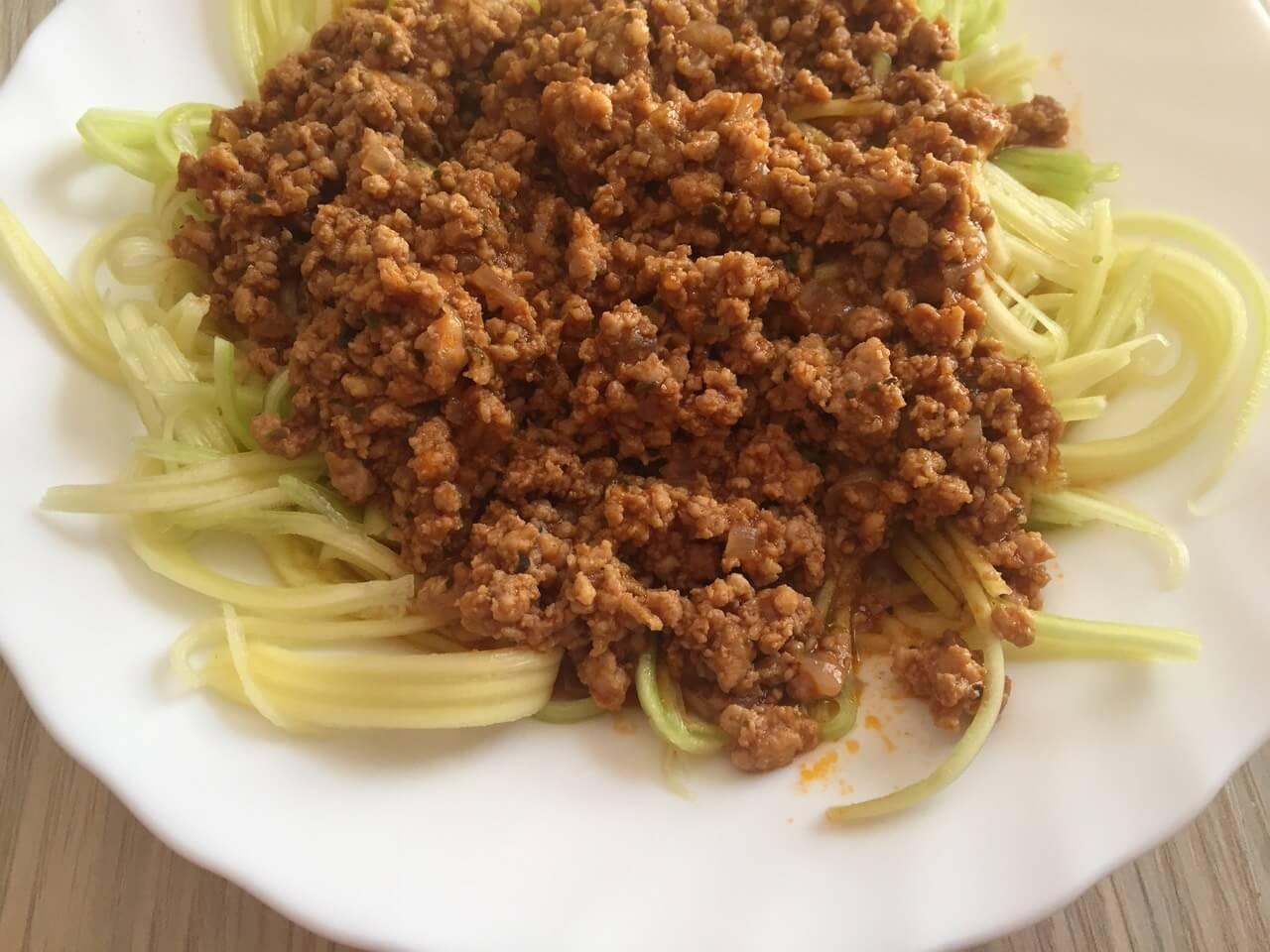 Špagete od tikvica sa bolonjez sosom - Ručak - 2